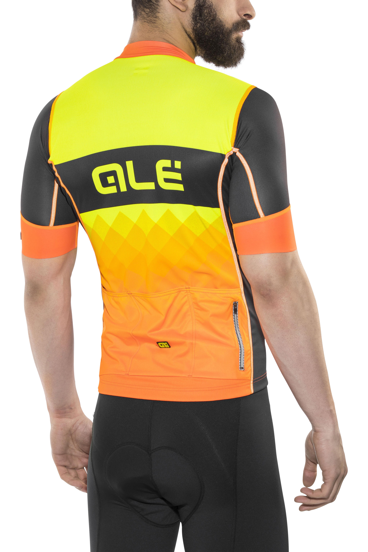 faeda872b68 ▷ Alé Cycling R-EV1 Rumbles Short Sleeve Jersey Men black-fluo org ...